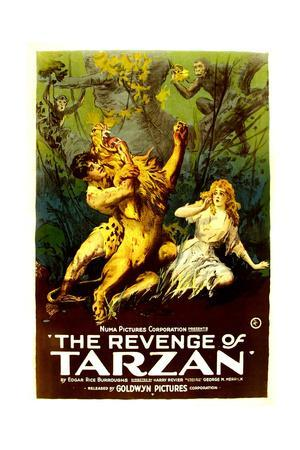 THE REVENGE OF TARZAN, from left: Gene Pollar, Karla Schramm, 1920