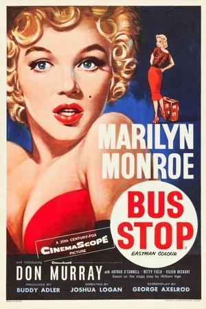 Bus Stop, Marilyn Monroe on US poster art, 1956