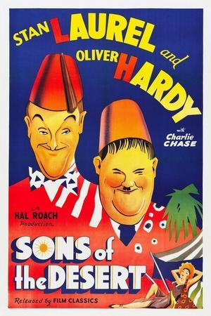 SONS OF THE DESERT, Stan Laurel, Oliver Hardy, 1933.