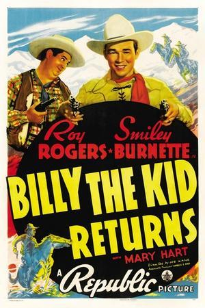 Billy The Kid Returns, Smiley Burnette, Roy Rogers, 1938