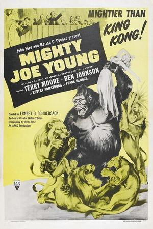 MIGHTY JOE YOUNG, US poster, Terry Moore, Mighty Joe Young, 1949