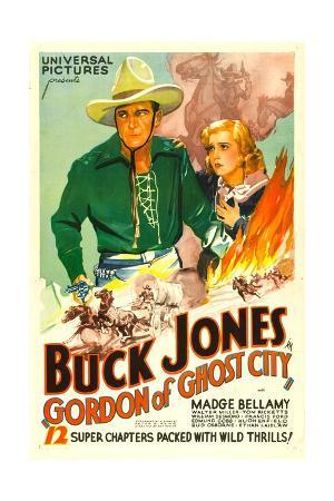 GORDON OF GHOST CITY, Buck Jones, Madge Bellamy, 1933