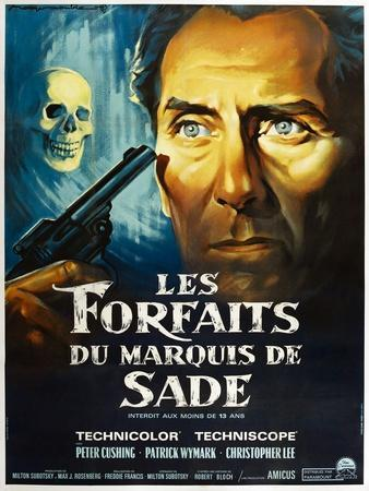 The Skull, French poster, Peter Cushing, 1965