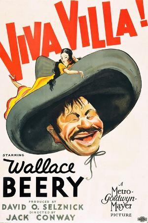 VIVA VILLA!, Wallace Beery on poster art, 1934.