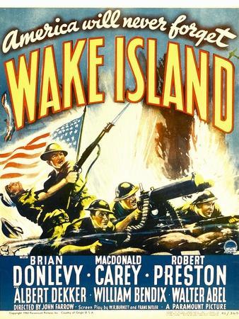 WAKE ISLAND, window card, 1942.