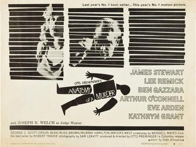 Anatomy of a Murder, Lee Remick, Ben Gazzara, James Stewart, 1959