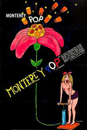 MONTEREY POP, poster art, 1968.