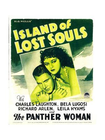 ISLAND OF LOST SOULS, from left: Richard Arlen, Kathleen Burke on window card, 1932
