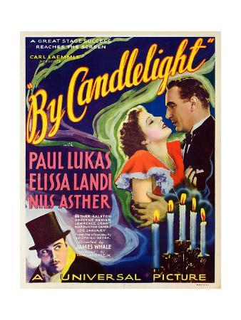 BY CANDLELIGHT, US poster art, from left: Nils Asther, Elissa Landi, Paul Lukas, 1933