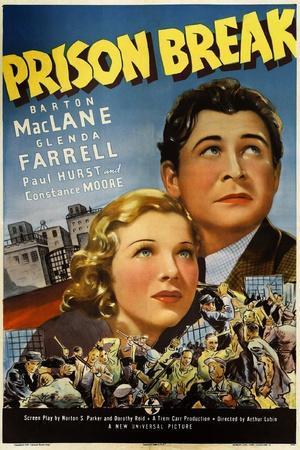 PRISON BREAK, US poster art, from left: Glenda Farrell, Barton MacLane, 1938
