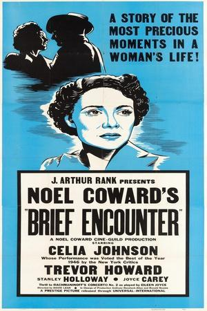 Brief Encounter, Celia Johnson on US poster art, 1945
