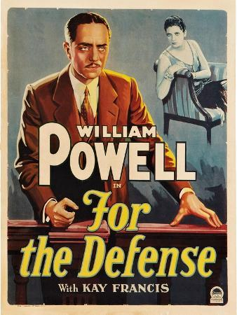 For the Defense, William Powell, Kay Francis, 1930