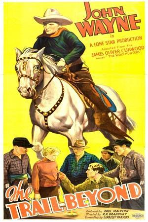 THE TRAIL BEYOND, top: John Wayne, bottom second from left: Verna Hillie, 1934.