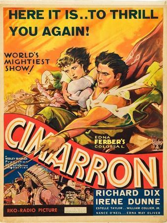 Cimarron, Irene Dunne, Richard Dix, 1931
