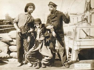 Chase Me Charlie, Charlie Chaplin on lobbycard, 1918