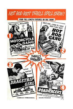 Multiple poster for HOT ROD GANG (1958), MOTORCYCLE GANG (1957)