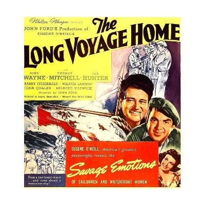 THE LONG VOYAGE HOME, John Wayne, Thomas Mitchell, Rafaela Ottiano, 1940