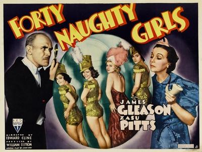 Forty Naughty Girls, James Gleason, Zasu Pitts, 1937
