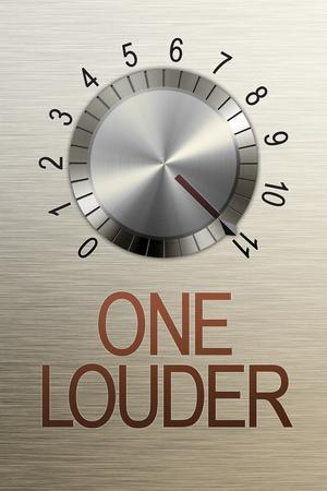 One Louder These Go to 11 Music Plastic Sign