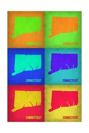 Connecticut Pop Art Map 1