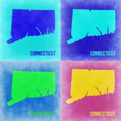 Connecticut Pop Art Map 2