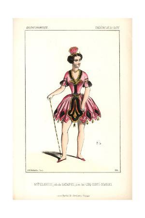Mlle. Clarisse As Sataniel in Les Cinq Cents Diables at the Theatre De La Gaite