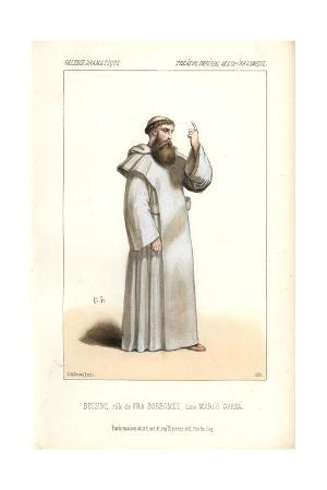 Bussine in Monk's Robes As Fra Borromee in Marco Spada at the Opera Comique