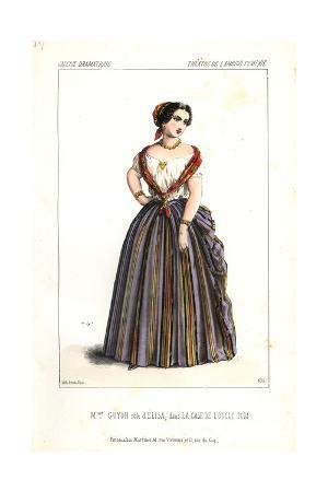 Madame Guyon As Elisa in La Case De L'Oncle Tom at L'Ambigu Comique