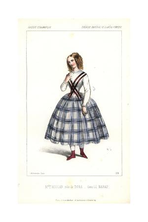 Opera Singer Mlle. Miolan As Dora in Le Nabab at the Opera Comique