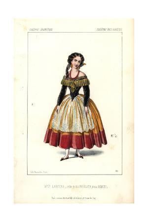 Mlle. Larcena As Manuelita in Pepito at the Theatre Des Varietes