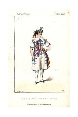 Ballet Dancer's Costume From Le Roi Des Halles at the Theatre Lyrique
