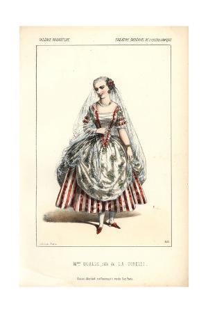 Mme. Marguerite Ugalde As La Tonelli at the Opera Comique