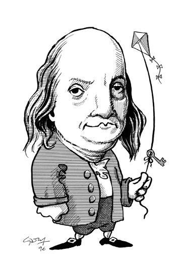 Benjamin Franklin, Caricature Giclee Print by Gary