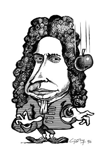 Isaac Newton Caricature Giclee Print By Gary Gastrolab At