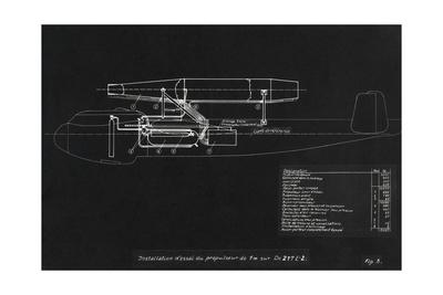 German WWII Ramjet Bomber Blueprint