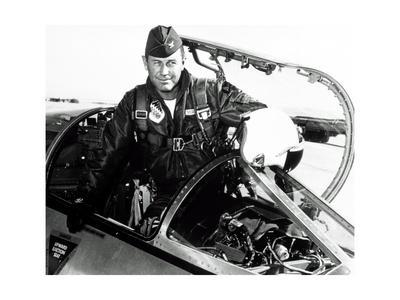Portrait of Charles Chuck Yeager, American Pilot