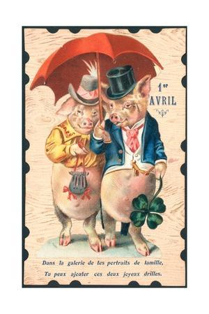 French April Fools' Day Card