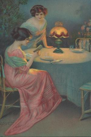 Two Women Sitting at a Table