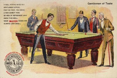 Gentlemen of Taste, Playing Pool