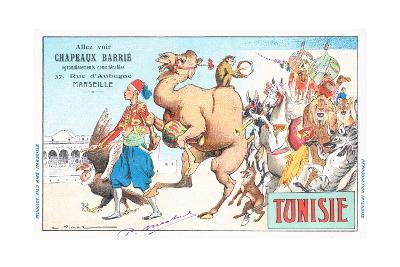 Tunisia, Chapeaux Barrie Postcard