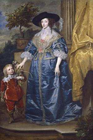 Queen Henrietta Maria with Sir Jeffrey Hudson, 1633