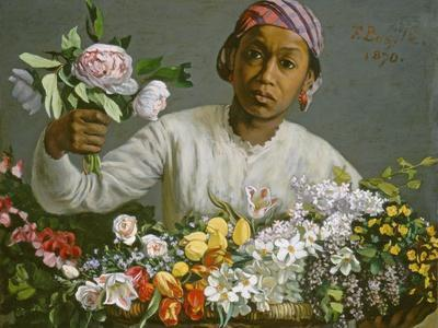 Young Woman with Peonies, 1870