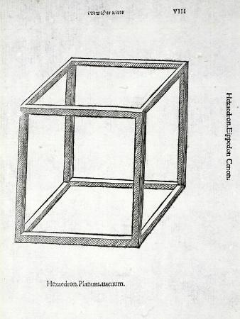 Hexaedron Planum Vacuum, Illustration from 'Divina Proportione' by Luca Pacioli (C.1445-1517),…