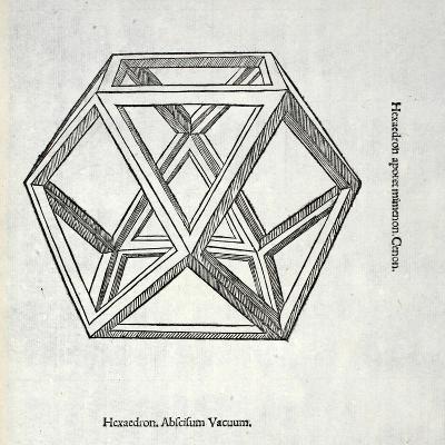 Hexaedron Abscisum Vacuum, Illustration from 'Divina Proportione' by Luca Pacioli (C.1445-1517),…
