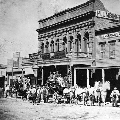 Wells, Fargo and Co.'s Express Office, C Street, Virginia City, Nevada, from 'Gems of California…