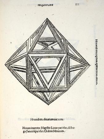 Hexaedron Elevatum Vacuum, Illustration from 'Divina Proportione' by Luca Pacioli (C.1445-1517),…