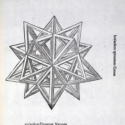 Icosaedron Elevatum Vacuum, Illustration from 'Divina Proportione' by Luca Pacioli (C.1445-1517),…