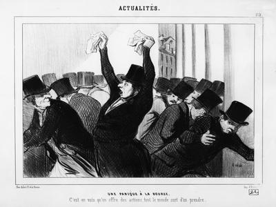 A Panic at the Stock Exchange', Caricature from 'Le Charivari', December 9, 1845