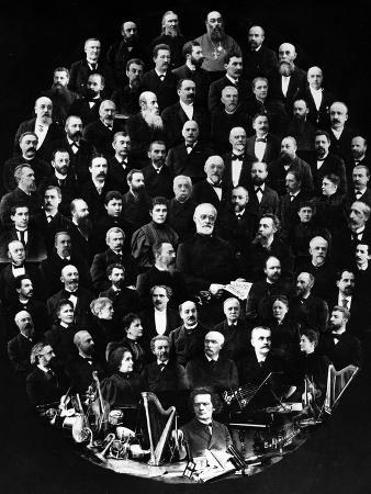 A Montage of Portraits Showing Teachers at the St. Petersburg Conservatoire, Russia's Oldest…
