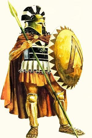 A Spartan Hoplite, or Heavy Armed Soldier